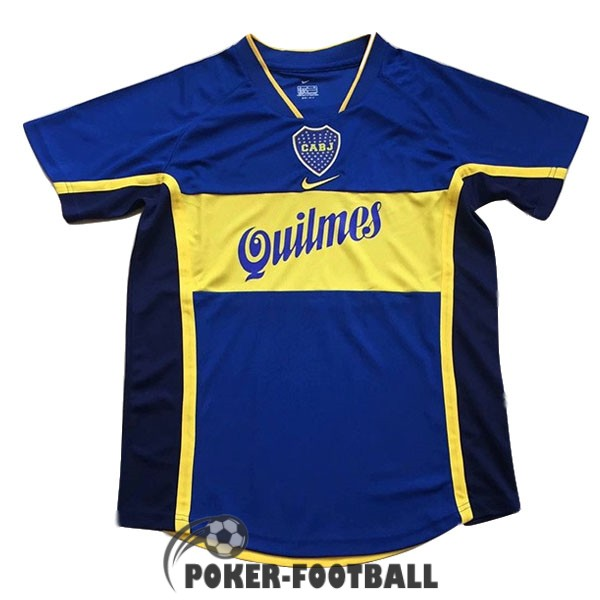 2001 maillot retro boca junior domicile