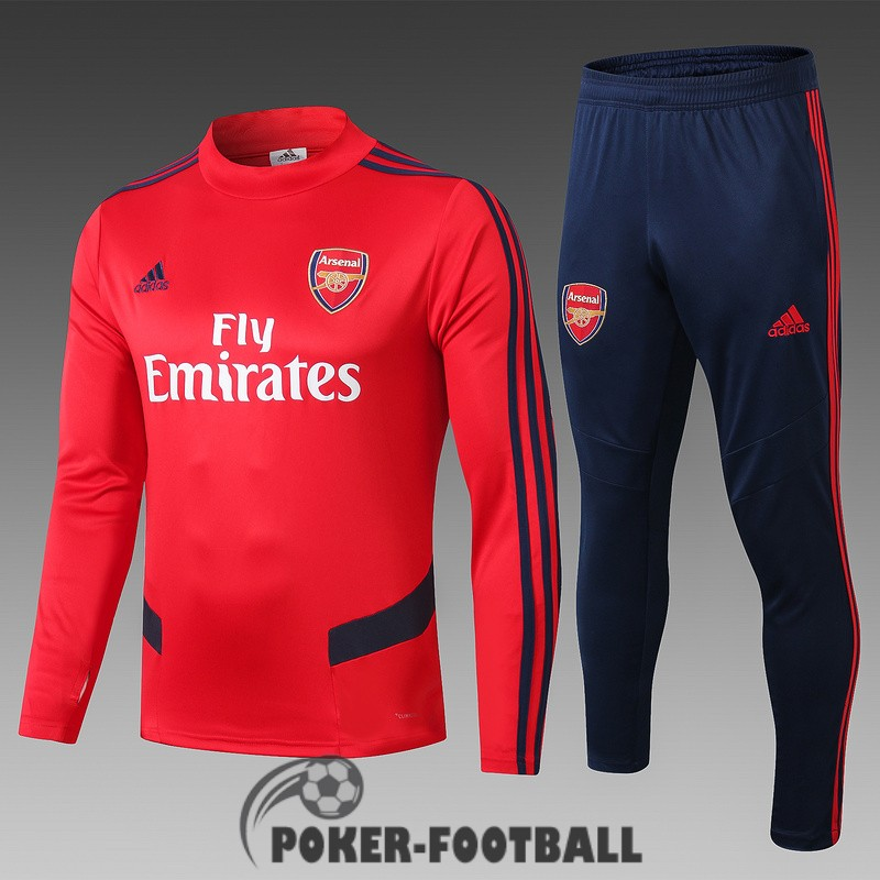 2019-2020 survetement foot arsenal col haut rouge