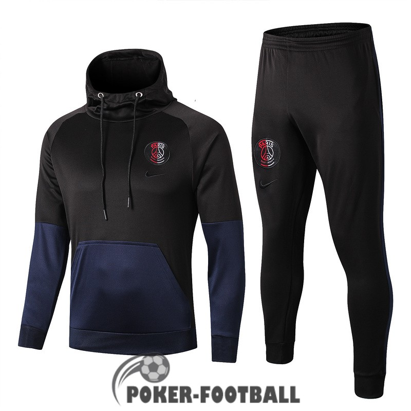 2019-2020 survetement foot psg sweat s capuche noir