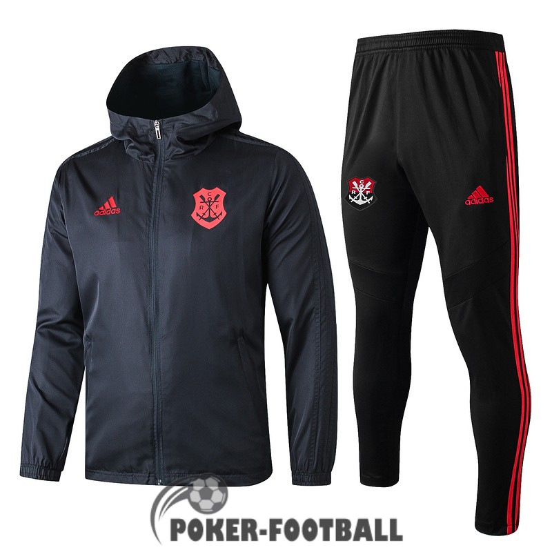 2019-2020 coupe vent flamengo noir rouge [pork-football-13-164]