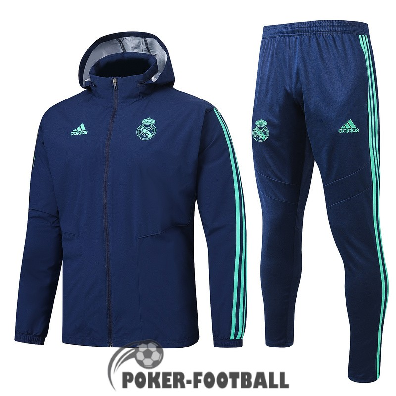 2019-2020 coupe vent real madrid bleu fonce