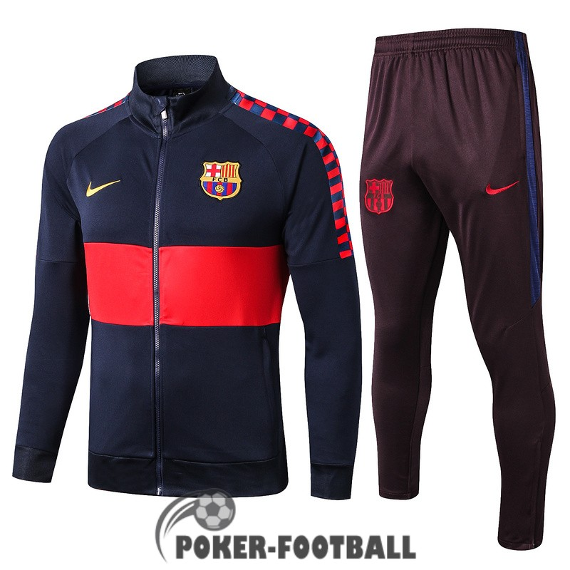 2019-2020 veste barcelone bleu fonce rouge [poker-football-9-30-66]