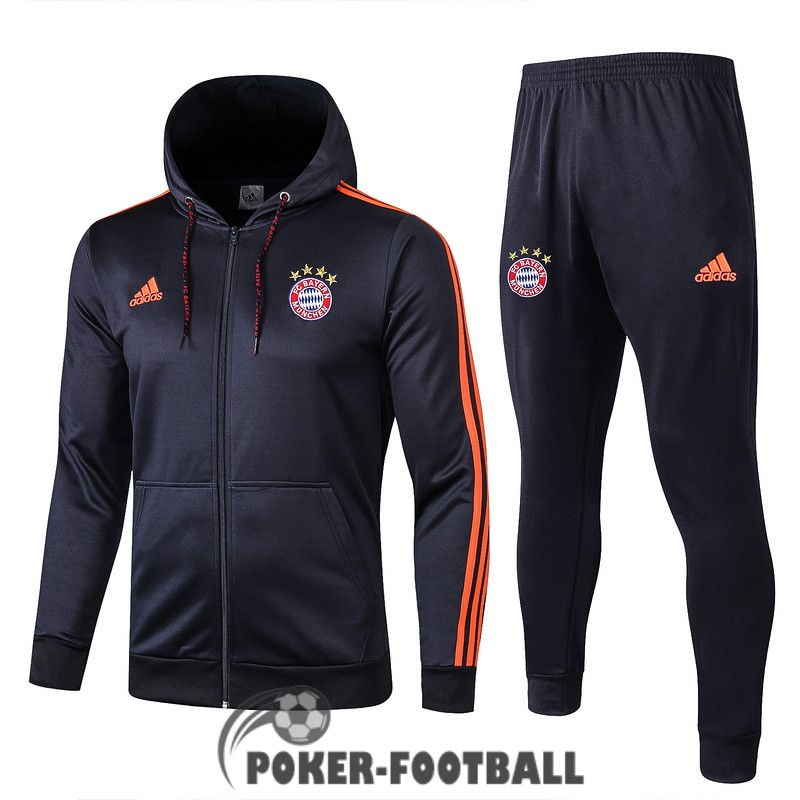 2019-2020 veste bayer leverkusen sweat s capuche bleu [pork-football-13-141]