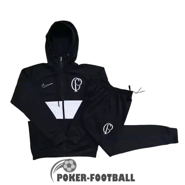 2019-2020 veste corinthians sweat s capuche noir [poker-football-9-30-113]