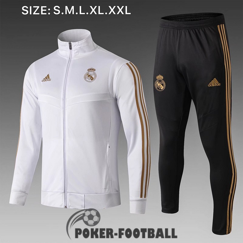 2019-2020 veste real madrid blanc B