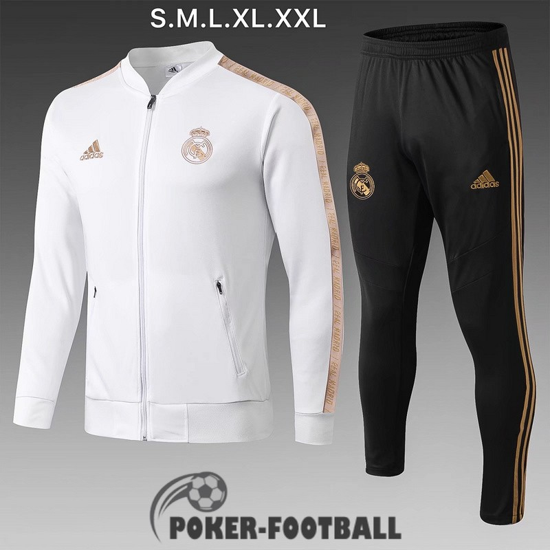 2019-2020 veste real madrid blanc