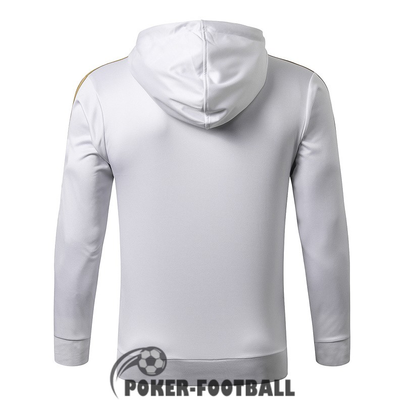 2019-2020 veste real madrid sweat s capuche blanc