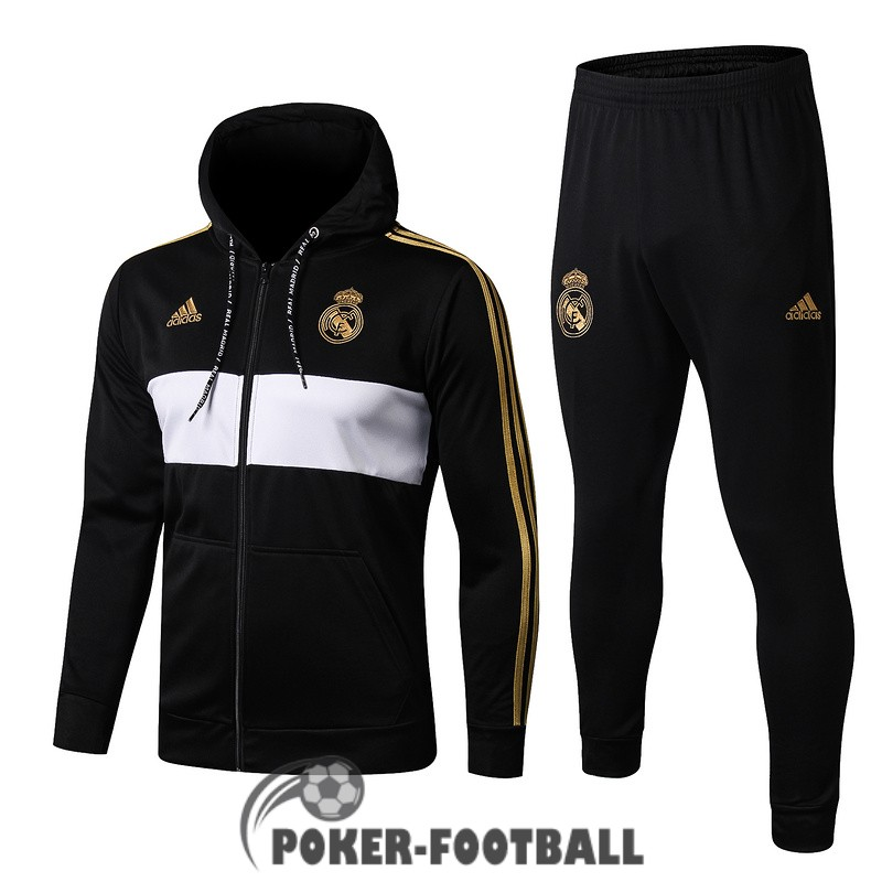 2019-2020 veste real madrid sweat s capuche noir