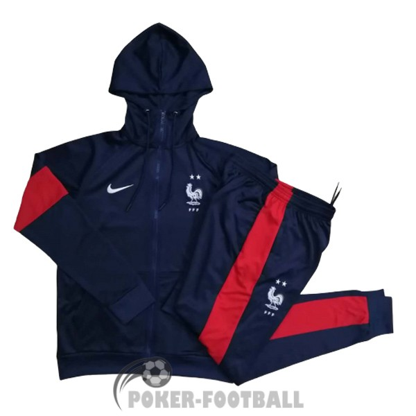 2020-2021 veste france sweat s capuche bleu fonce