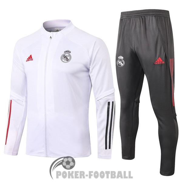 2020-2021 veste real madrid blanc