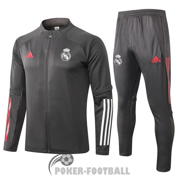 2020-2021 veste real madrid gris fonce