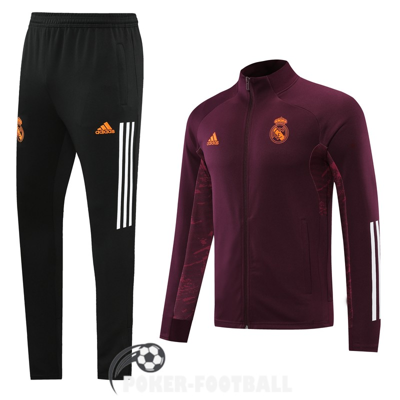 2020-2021 veste real madrid rouge fonce