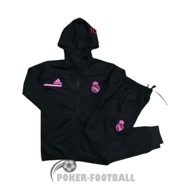 2020-2021 veste sweat s capuche enfants real madrid noir