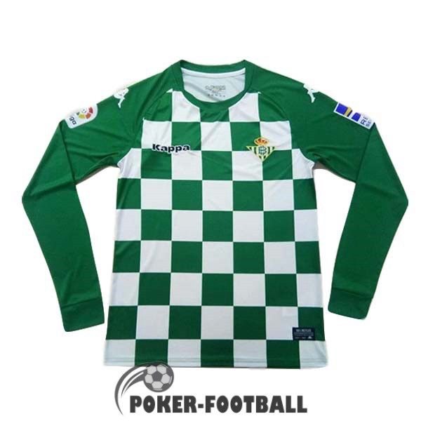 vert blanc maillot edition limitee real betis manche longue